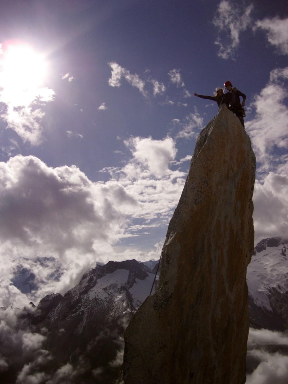 mit Stefan auf der Gipfelnadel