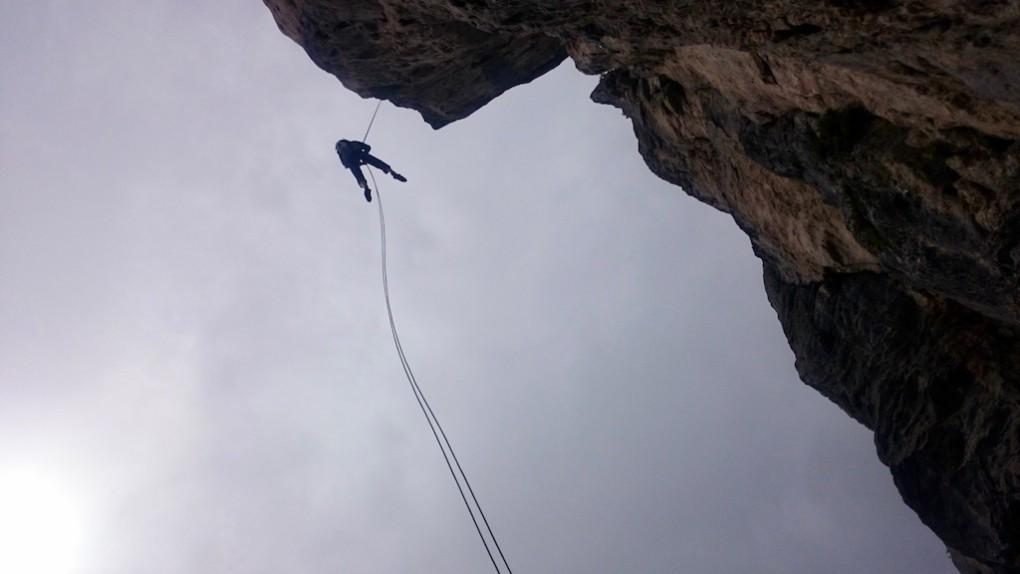Abseilen im Alpengeier