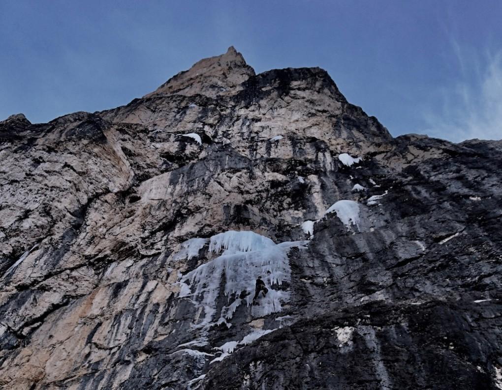 Spot the Climber- Hannes in der unteren Sl