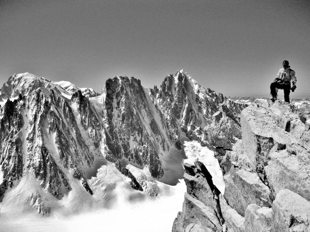Am Gipfel der Aig. du Tour Noir