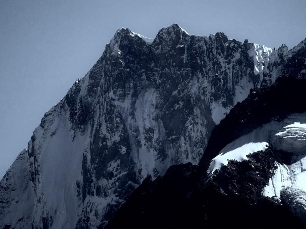 Die Nordwand der Grandes Jorasses- für mich die eindrucksvollste Wand der Alpen