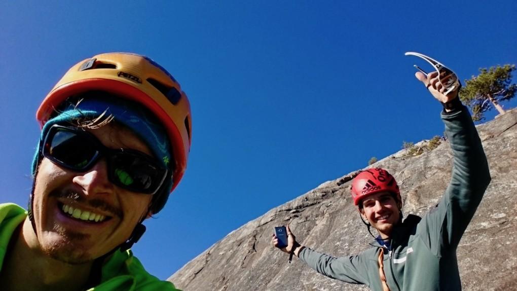 """Am Ausstieg der """"Lurking Fear"""" -zum ersten mal am Top des El Cap"""