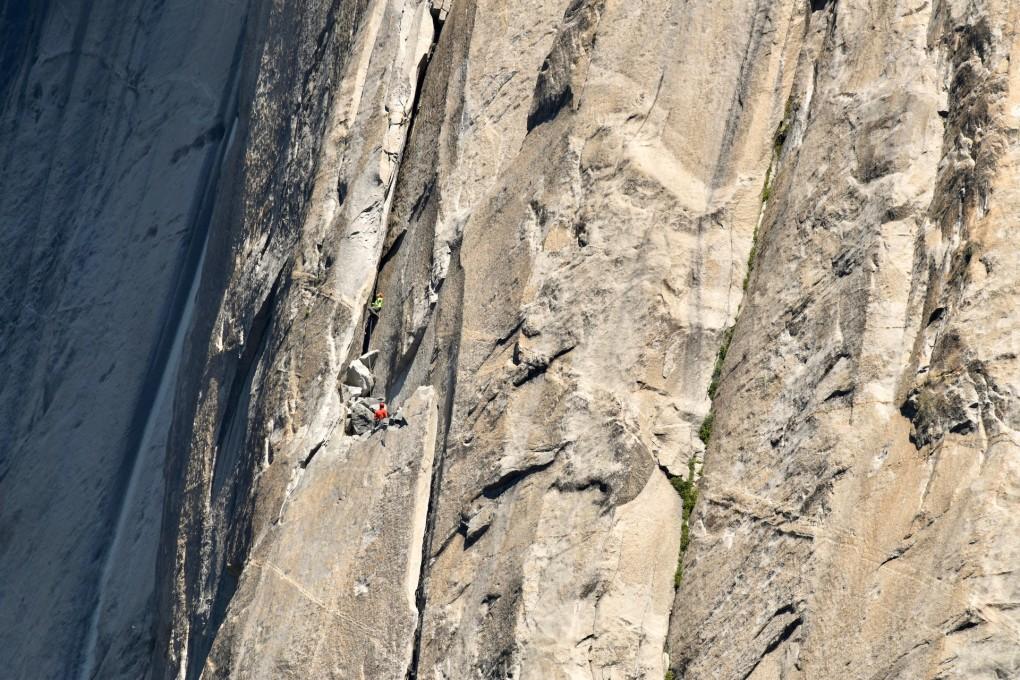 In der Hollow Flake. Trotz, oder besser gesagt Dank, meines großen Respekts konnte ich diese eigenartigen 40 Meter recht brauchbar klettern. Bild: Tom Evans