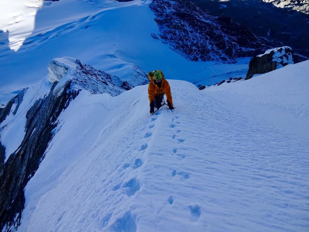 Die letzten Meter zum Gipfel