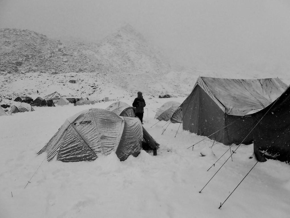 Am Morgen nach unserer Rückkehr ins BC. Es hatte kräftig geschneit in der Nacht